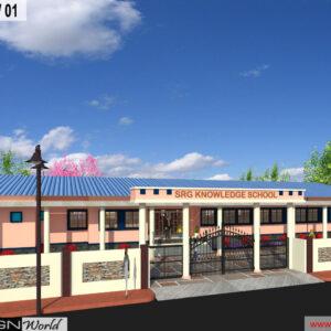 Mr.Suman Bhattacharya - Lucknow U.p -School - 3d Exterior View-01