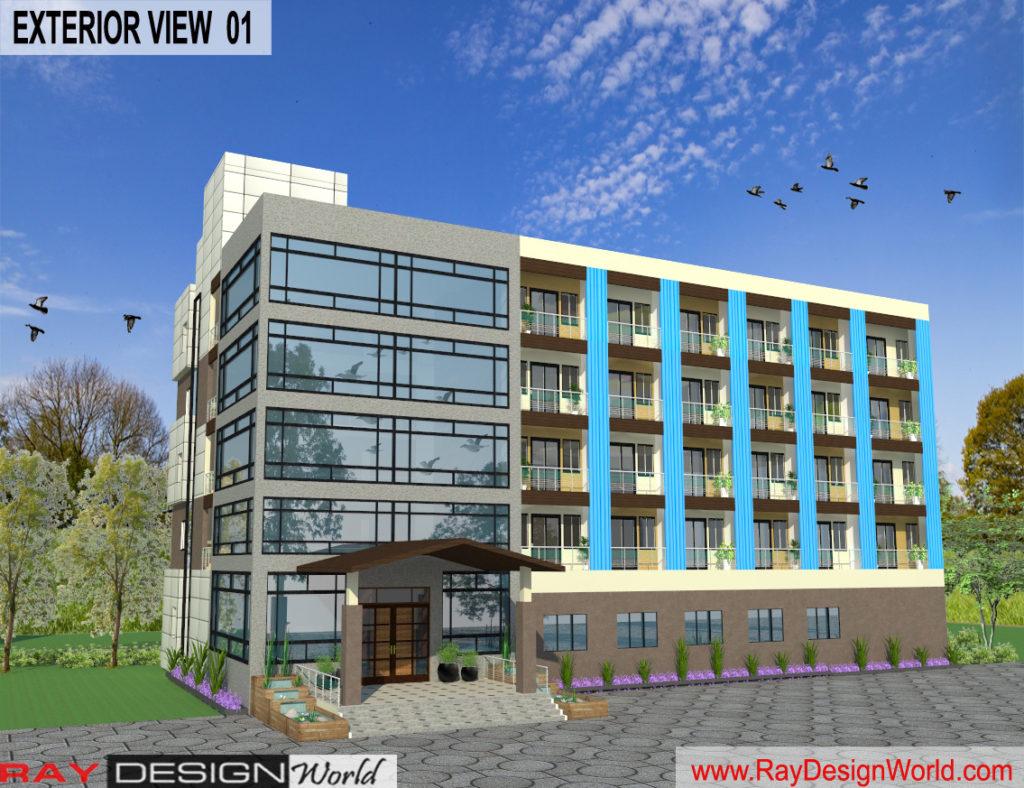 Mr.Vivek-Gupta-Gwalior-M.P-Hotel-3d-Exterior-View-01