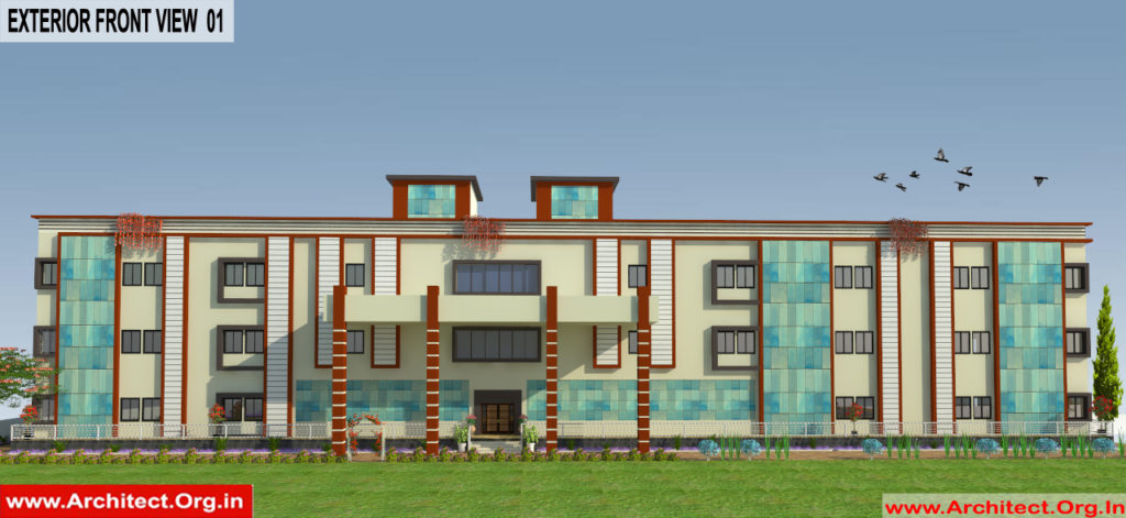Mr. Nitesh Dalal - Ujjain MP - Marriage Hall-3d Exterior Front View-01