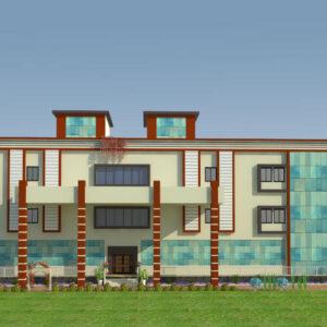 Mr. Nitesh Dalal - Ujjain MP - Marriage Hall-3d Exterior Front View-01