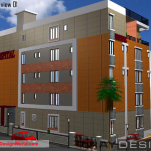 Hospital Exterior Design view 1 - Srikakulam Andhra Pradesh - Dr. Bharat