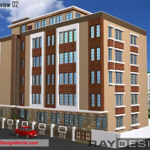 Hospital Exterior Design view 2 – Srikakulam Andhra Pradesh – Dr. Golivimohan