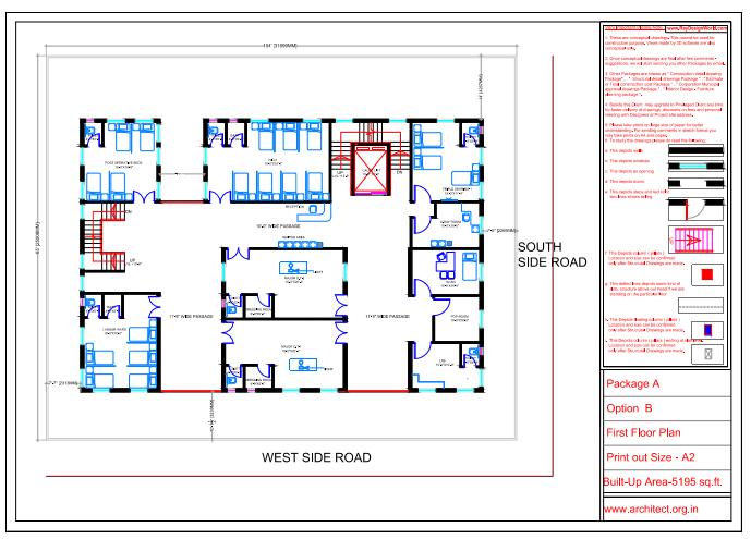 Dr.Saravanan Gobinathan-Coimbotre Tamilnadu-Hospital-First Floor Plan