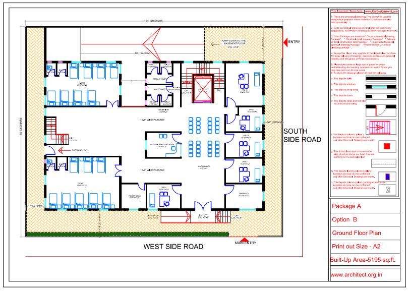 Dr.Saravanan Gobinathan-Coimbotre Tamilnadu-Hospital-Ground floor Plan