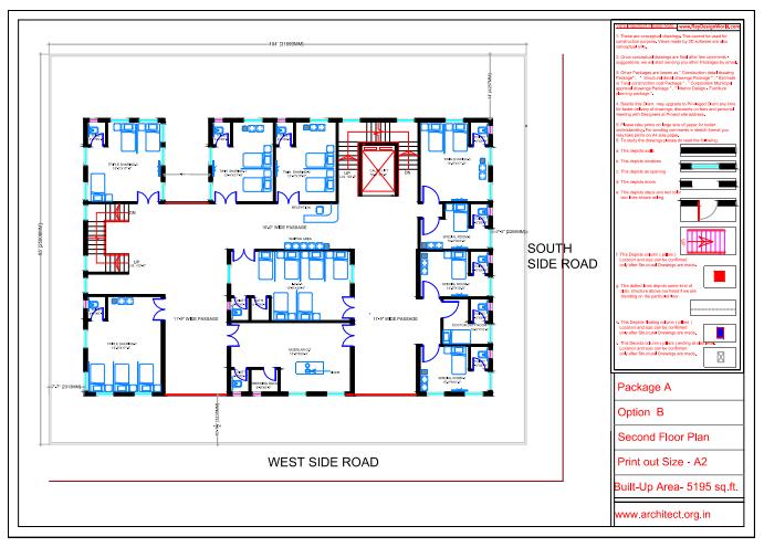 Dr.Saravanan Gobinathan-Coimbotre Tamilnadu-Hospital-Second Floor Plan