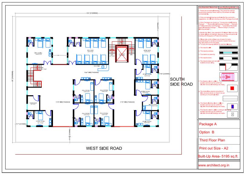 Dr.Saravanan Gobinathan-Coimbotre Tamilnadu-Hospital-Third Floor Plan