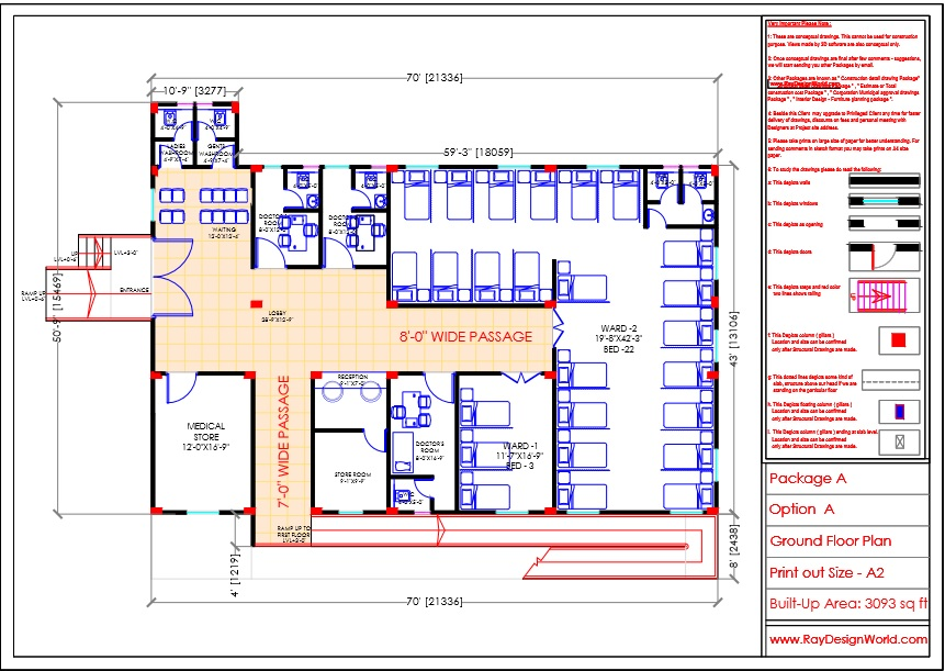 Dr.Krishna-Jhansi Uttar pradesh-Hospital-Ground Floor Plan
