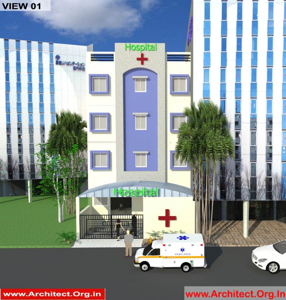 Dr.Vivek Agrawal-Agra UP-Hospital-3D Exterior View-01