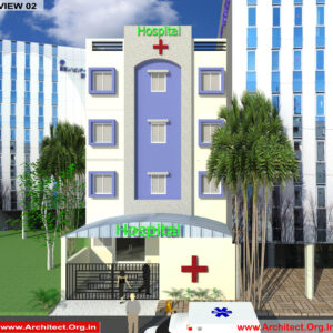 Dr.Vivek Agrawal-Agra Up-Hospital-3D Exterior View-02