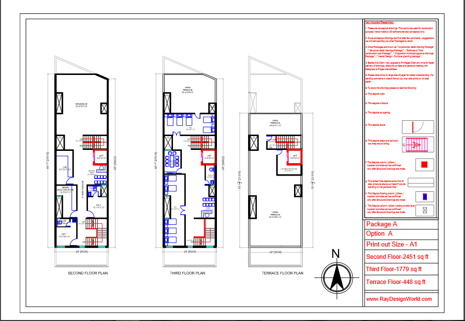 Dr.Vivek Agrawal-Agra UP-Hospital-Second floor plan ,Third floor-plan And Terrace floor plan