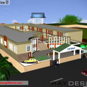 School Exterior Design view 01 - Ludhiana Punjab - Mr. Akshay Patial