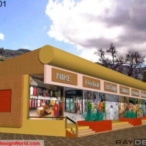 Shopping Complex Exterior Design view 01 - Mombasa Kenya Africa - Mr. Alex