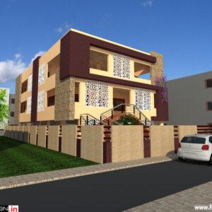 Apartment Exterior Design view 1 - Bangalore - Mr. Amit Maini
