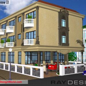 Hotel Exterior Design view 01 - Asansol West Bengal - Mr. Amitkumar Chanda