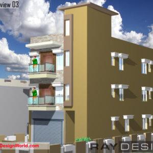 Shopping Complex Exterior Design 03 - Medinipur West Bengal - Mr. Asit Panda