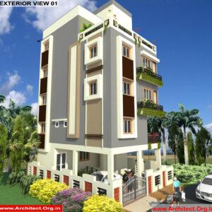 Mr.Basavaraj-Bangalor Karnataka-Bungalow-3D Exterior View -01