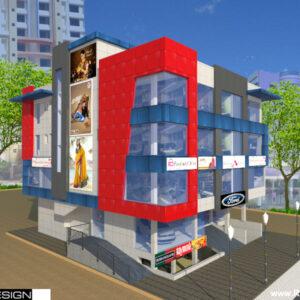 Shopping Complex Exterior Design view 01 - Nanded Maharashtra - Mr. Ganesh Kalyankar