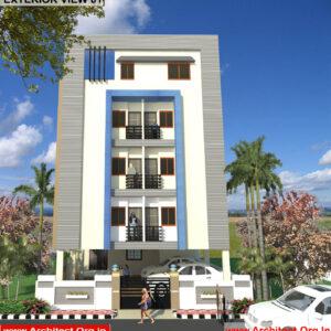 Mr.Mahesh-Jamalpur Hyderabad-Apartment-3D Exterior View-01
