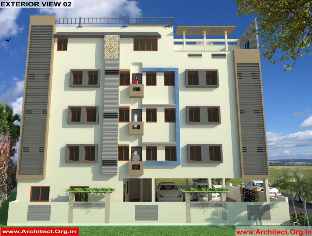 Mr.Mahesh-Jamalpur Hyderabad Apartment-3D Exterior View-02