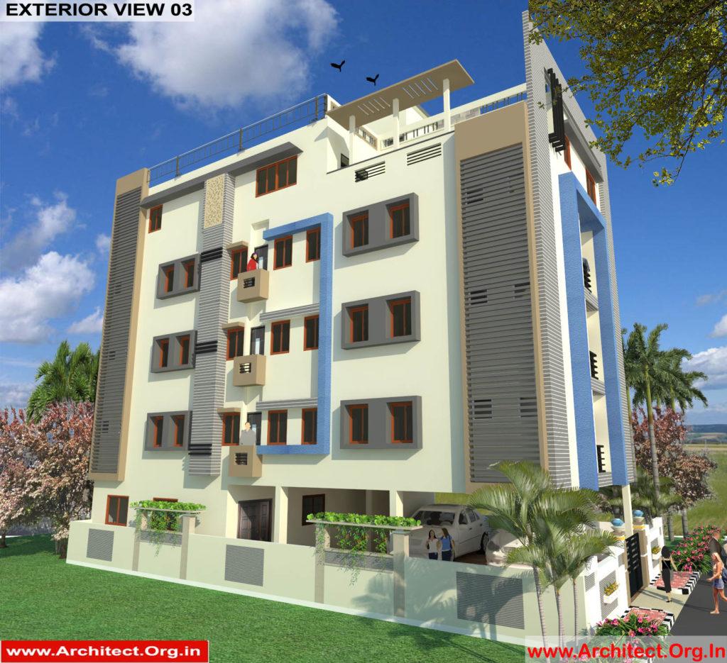 Mr.Mahesh-Jamalpur Hyderabad-Apartment-3D Exterior View-03