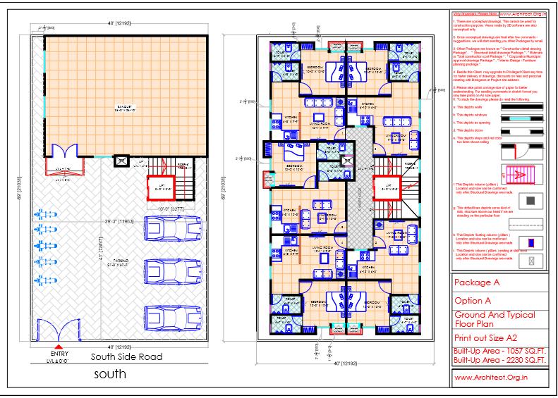 Mr.Mahesh-Jamalpur Hyderabad-Apartment-Ground And Typical Floor Plan