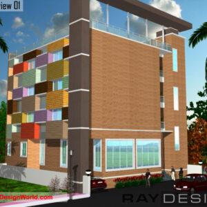 School Exterior Design view 01- Narsipatnam Visakhapatnam Andhra Pradesh - A. Murlidhar