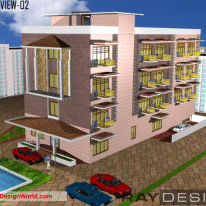 Hotel Exterior Design view 02- Chennai Tamil Nadu - Mr.A. Venkatesan