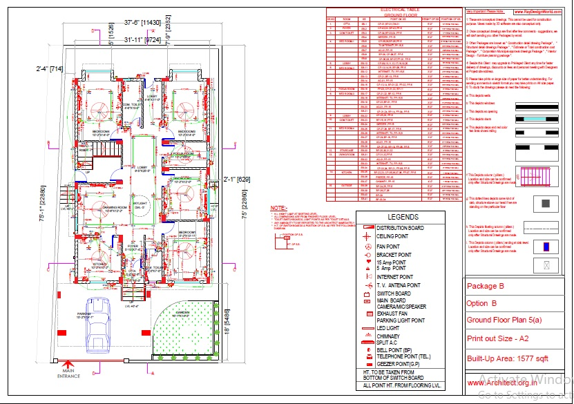 Mr.Abhay kumar singh-Azamgarh UP-Bungalow-Package-B-Electrical Plan-5a