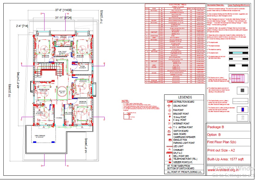 Mr.Abhay kumar singh-Azamgarh UP-Bungalow-Package-B-Electrical Plan-5b
