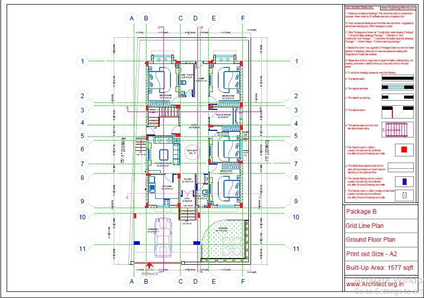 Mr.Abhay kumar singh-Azamgarh UP-Bungalow-Package-B-Grid Line Plan-1a