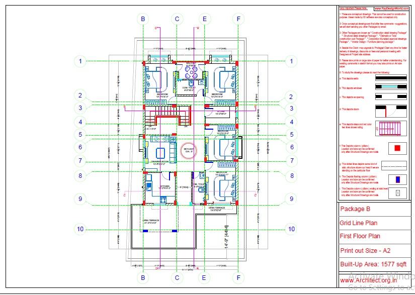 Mr.Abhay kumar singh-Azamgarh UP-Bungalow-Package-B-Grid Line Plan-1b