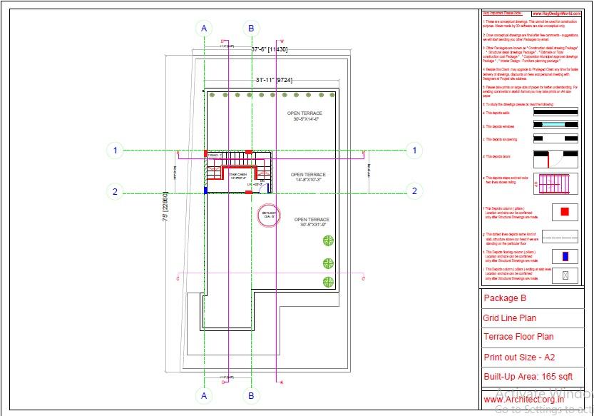 Mr.Abhay kumar singh-Azamgarh UP-Bungalow-Package-B-Grid Line Plan-1c