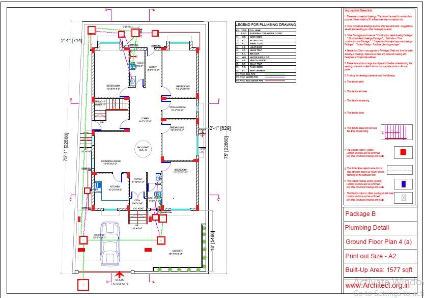 Mr.Abhay kumar singh-Azamgarh UP-Bungalow-Package-B-Plumbing Detail-4a