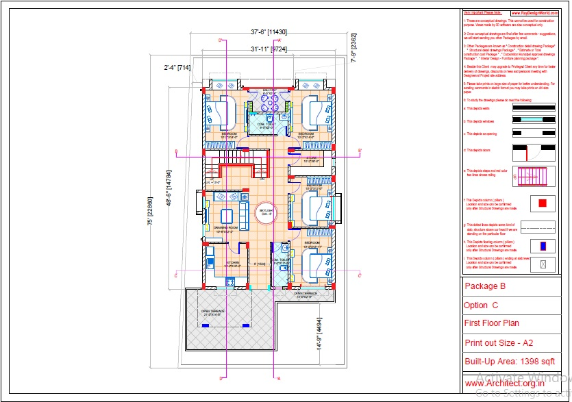 Mr.Abhay kumar singh-Azamgarh UP-Bungalow-Package-B-Presentation drawing-1b