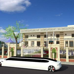 Marriage Hall Exterior Design view 01 - Motihari Bihar - Mr. Amarnath Sahu