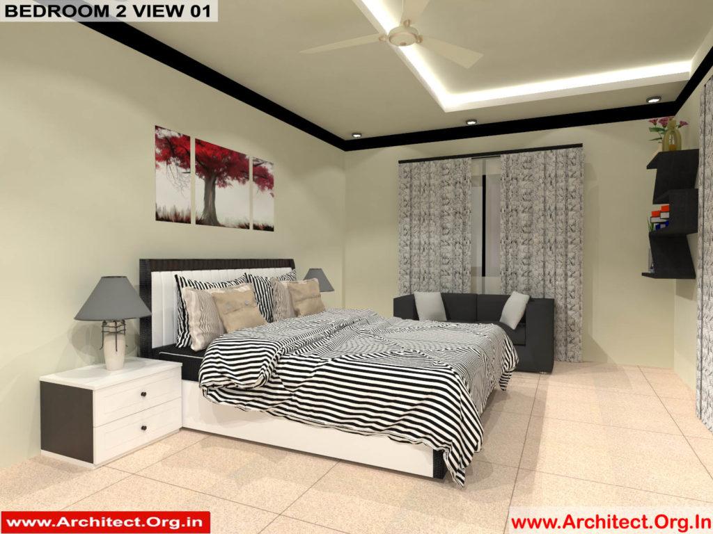Mr.Manish K Shah-Ahemdabad Gujrat-House Interior-Bedroom-2 view-01