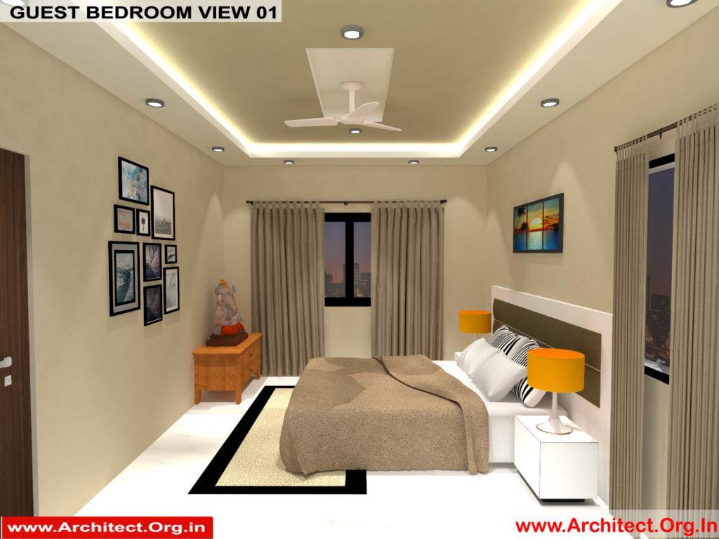 Mr.Manish K Shah-Ahemdabad Gujarat-House Interior-Guest bedroom view-01