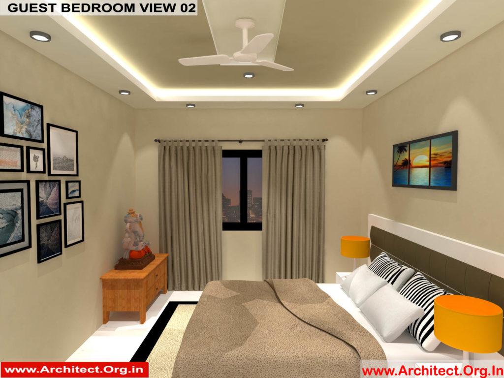 Mr.Manish K Shah-Ahemdabad Gujarat-House Interior-Guest bedroom view-02