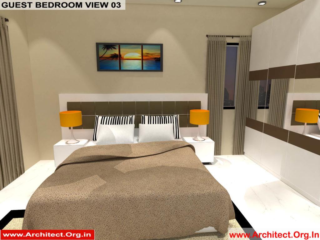 Mr.Manish K Shah-Ahemdabad Gujarat-House Interior-Guest bedroom view-03