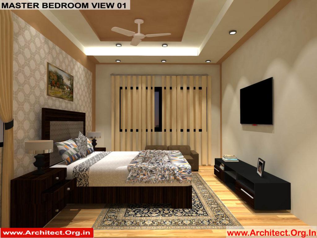 Mr.Manish K Shah-Ahemdabad Gujarat-House Interior-Master bedroom view-01