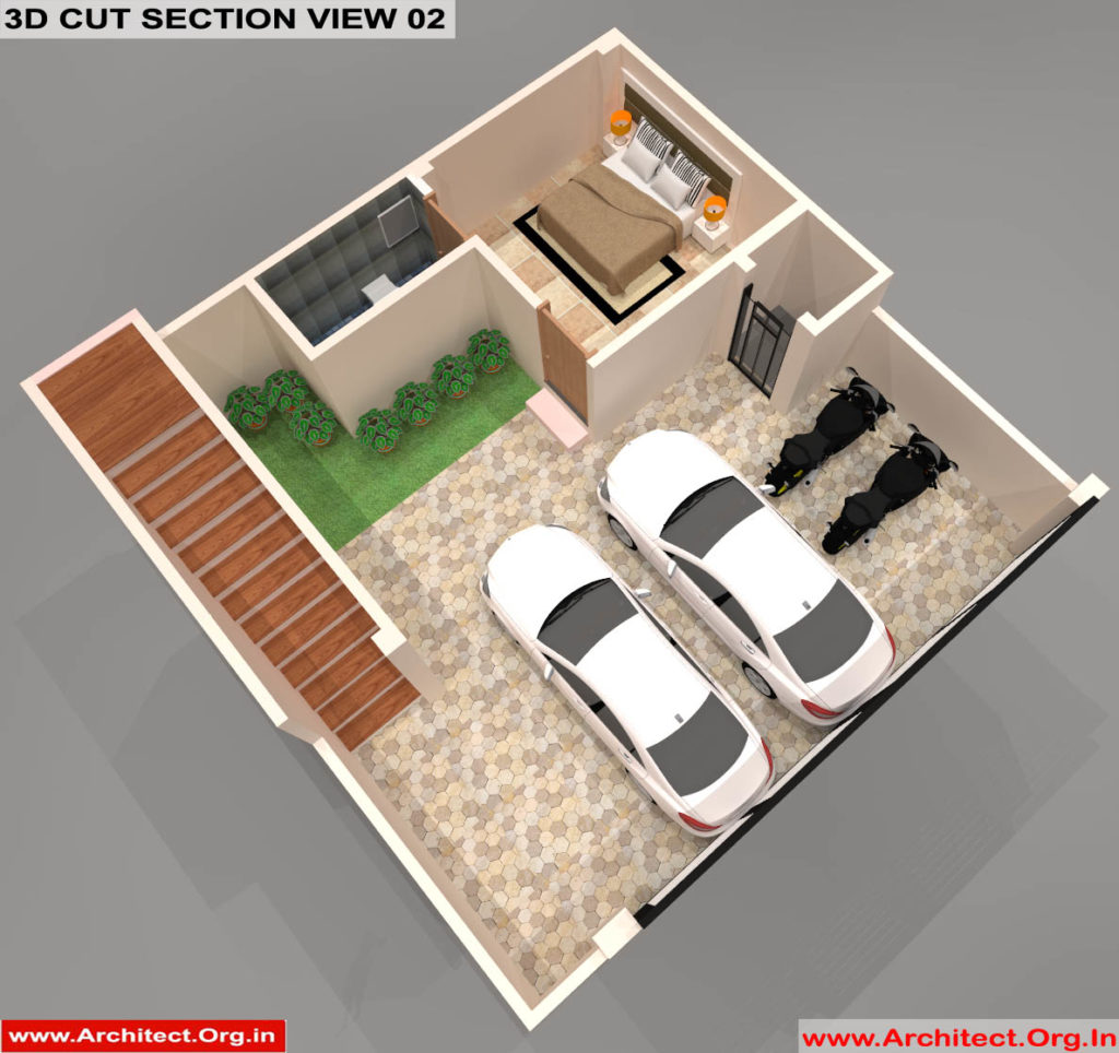 Mr.Sanjeev Kumar-Muzzafarpur Bihar-Bungalow-Stilt floor-3d Cut Section View-02