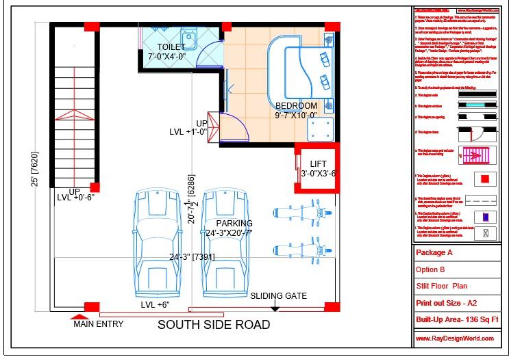 Mr.Sanjeev Kumar-Muzzafarpur Bihar-Bungalow-Stlit floor Plan