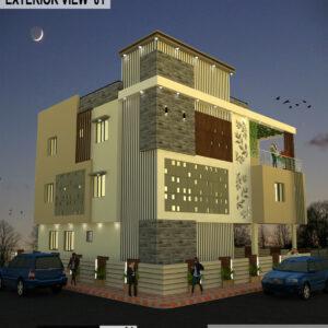 Apartment Exterior Design view 01 - Burla Sambalpur Odisha -Dr. Bijay Kumar Lamay