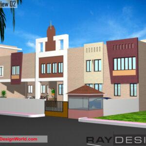 School Exterior Design view 02 - Mumbai Maharashtra - Mr. Dharmendra Chouhan
