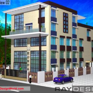 Apartment Exterior Design view 02 - Dhenkanal Odisha - Mr. Gaurav K. Sarwogi