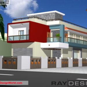 Appartment Exterior Design view 02 - Lumdi Assam - Mr. Kalyan