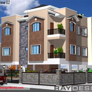 Apartment Exterior Design view 02 - Pune Maharashtra - Mr. Mahendra Bhagat