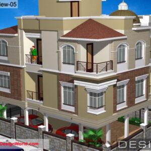 Apartment Exterior Design view 05 - Pune Maharashtra - Mr. Mahendra Chavan