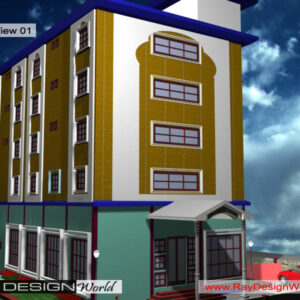 Hotel Exterior Design view 01 - Pattukkottai Tamilnadu - Mr. Makhesh