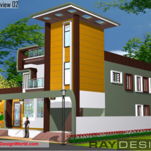 Complex Exterior Design view 02 - Nimbahera Rajasthan - Mr. Mohammed Karim